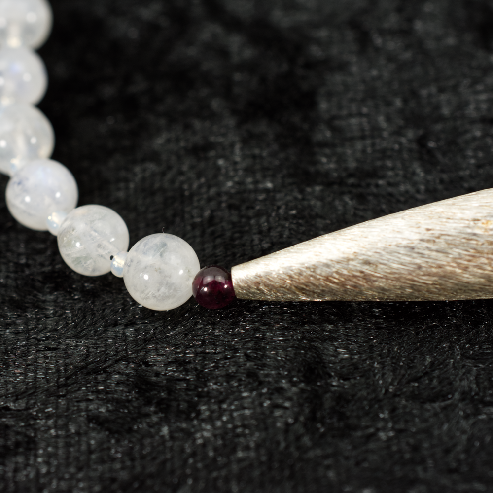 Rainbow Moonstone and Sterling Silver Necklace