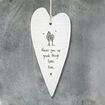Copy of Porcelain Hanging Heart