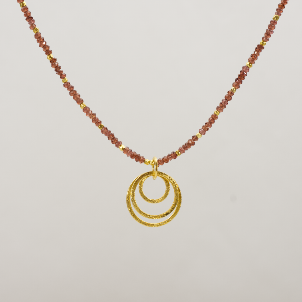 Indian Cut Garnet Necklace