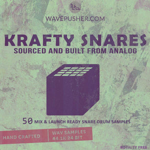 Krafty Snares - 50 drum hits sourced from analog