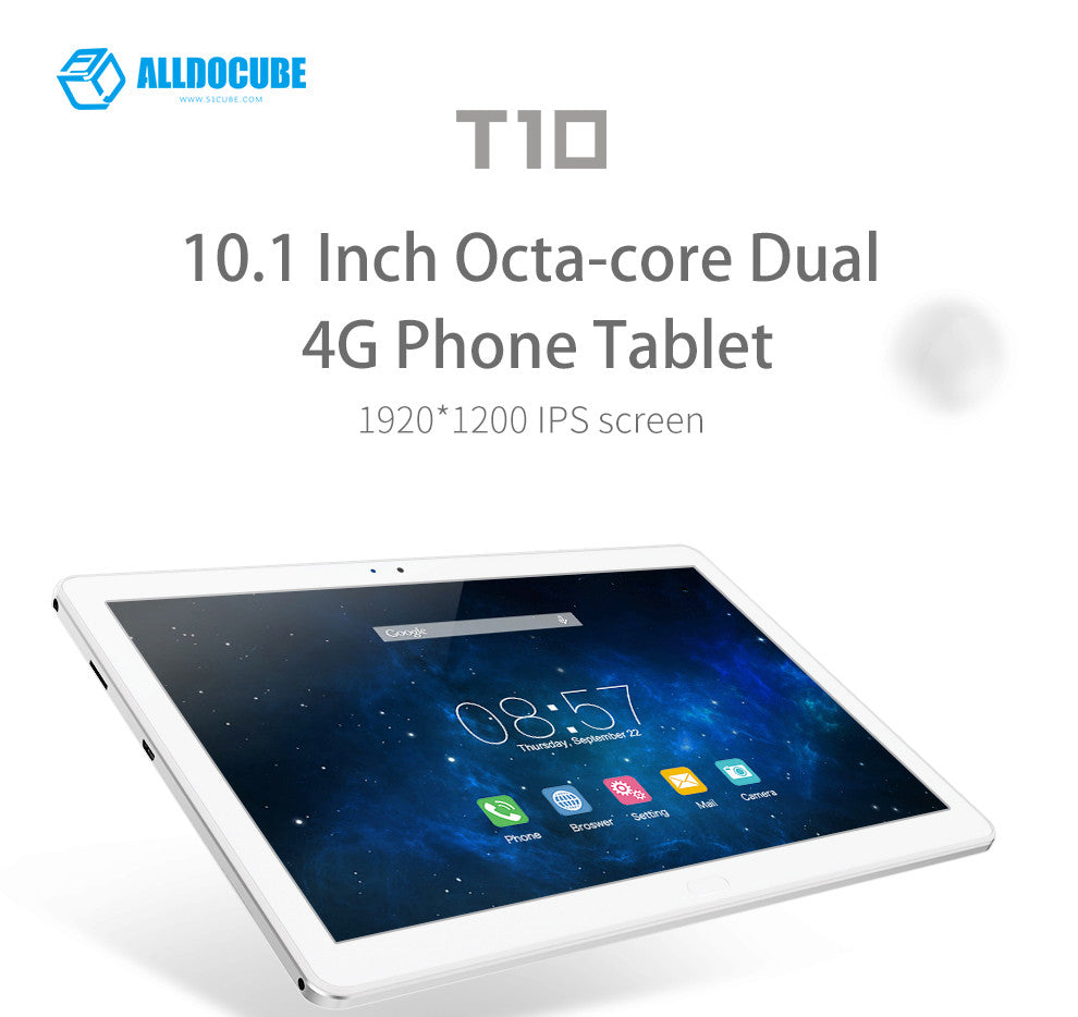 Cube T10 4G tablet is a 10.1 inch octa core dual 4g android 6.0 tablet.