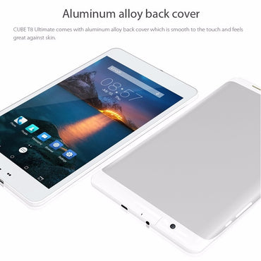 Cube T8 4G tablet is a 8 inch android 5.1 phablet. It has a aluminum alloy back cover.