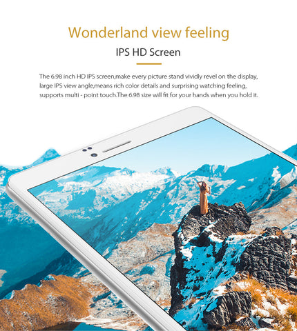 Cube WP10 is a 7 inch dual sim android 6.0 phablet. It has a IPS HD screen.