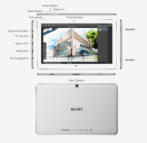 Cube Mix Plus Windows 10 Tablet