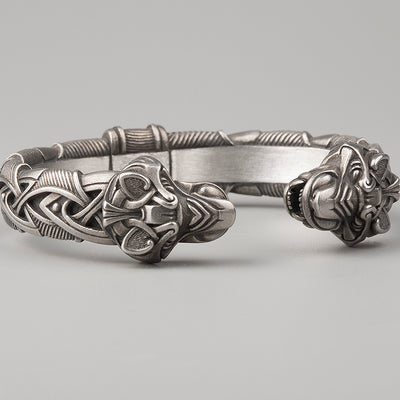 Viking Bracelet With Wolf's Head