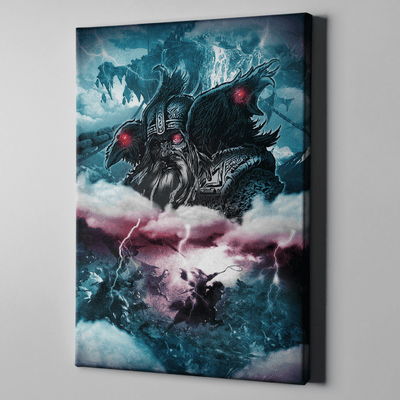 Odin & His Ravens Canvas Print Art