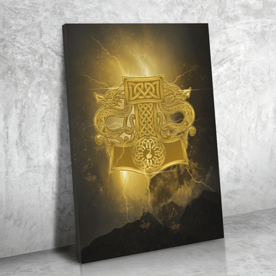 Mjolnir & Dragons Canvas Print Art