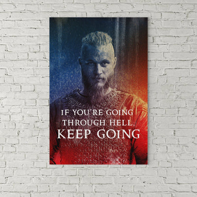 "Ragnar ""Keep Going"" Canvas Print Art"