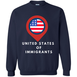 United States of Immigrant - Printed Crewneck Pullover Sweatshirt B