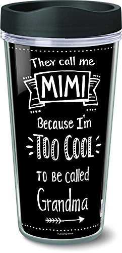 My Word! 51045 They Call Me Mimi Insulated Travel Mug, 16 oz, Multicolor