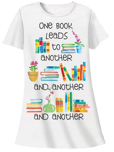 Relevant Products One Book Leads to Another Nightshirt Book Lover White One Size