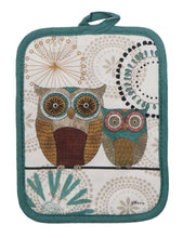 Kay Dee Designs Spice Road Retro Owl Set - 2 Terry Towels, Oven Mitt & Potholder