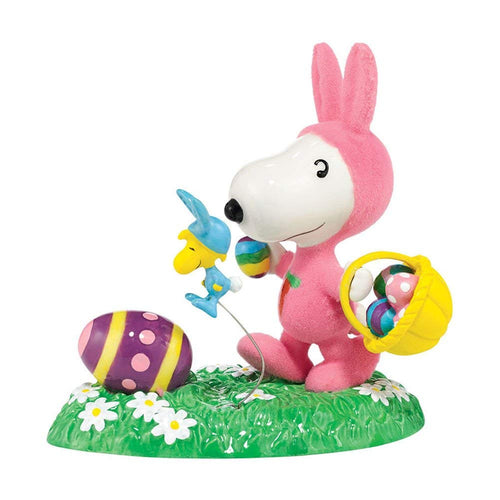 Department 56 Peanuts Its the Easter Egg Hunt Beagle Snoopy Figurine, 4 Inches