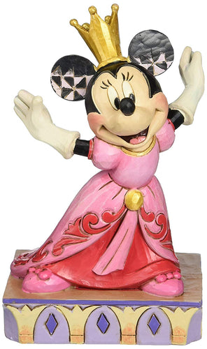 Jim Shore Disney Traditions Minnie Mouse Queen for a Day Figurine, 6.5 Inches