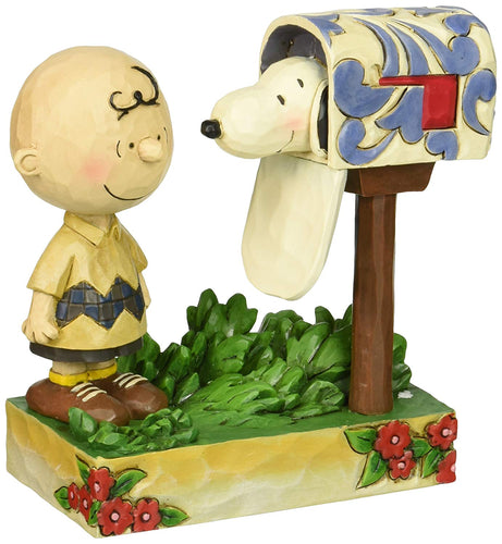 Jim Shore Peanuts Charlie Brown & Snoopy Special Delivery Mailbox Figurine 5