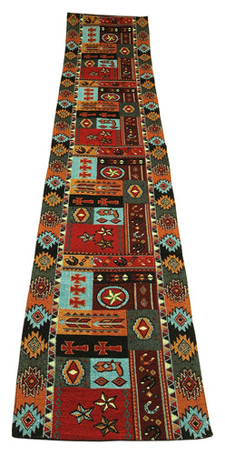 Raakha Western Life Southwestern Jacquard Table Runner Boots Stars 13 x 72
