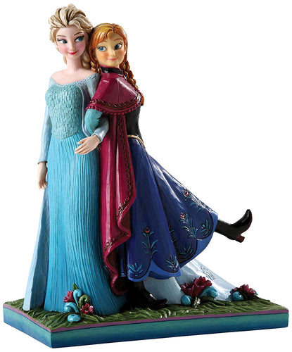 Jim Shore Disney Traditions Frozen Elsa and Anna Sisters Figurine, 7.5 Inches