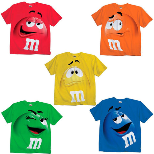 M&M Candy Silly Character Jumbo Face T-Shirt