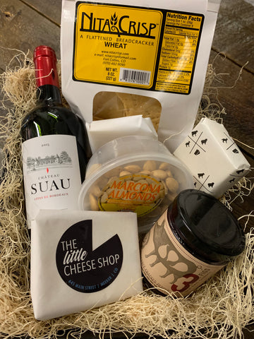 CHEESE, MEAT, WINE & GOODIES WITH MARKET TRAY