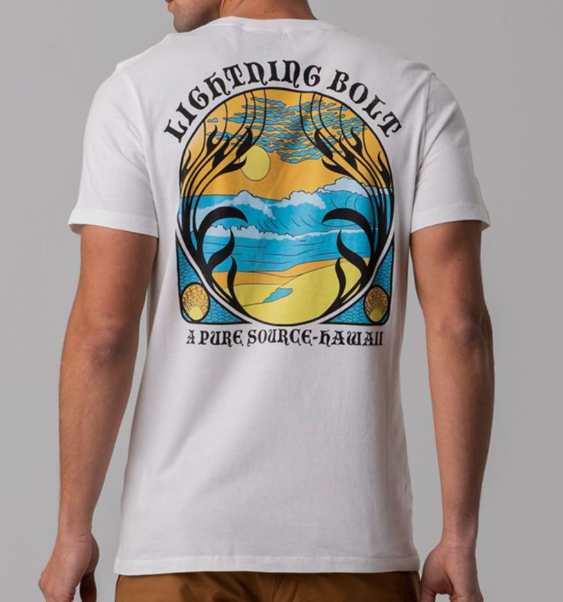 LIGHTNING BOLT PURE SOURCE HAWAII SS POCKET TEE