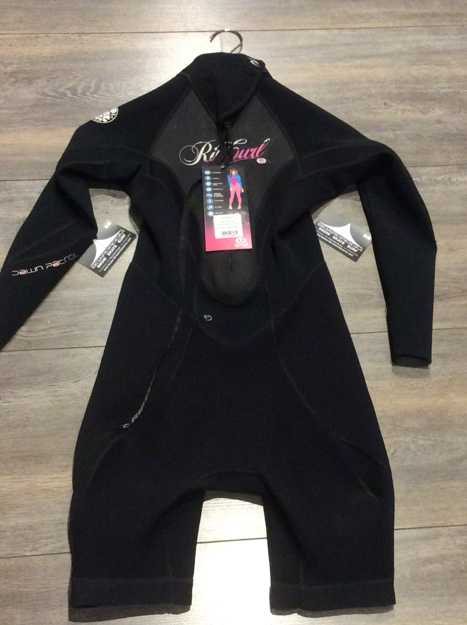 Muta da surf Junior RIP CURL Girl Dawn Patrol LS Spring 2 MM Black