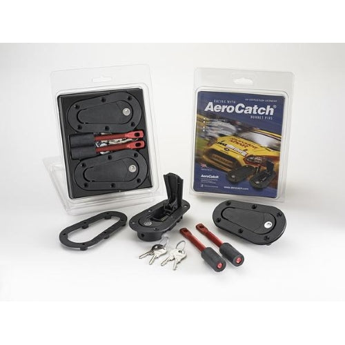 AEROCATCH - 120 SERIES HOOD PINS - PLUS FLUSH LOCKING KIT