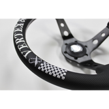 VERTEX - CHECKER 330mm STEERING WHEEL