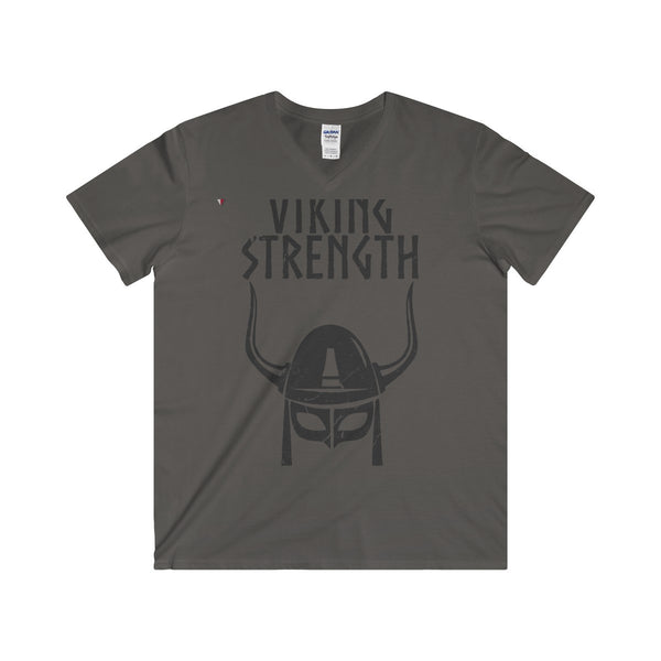 Viking Strength Black Gym Softstyle® Adult V-Neck T-Shirt