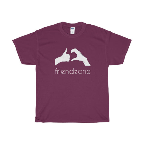 Friendzone White Heavy Cotton T-Shirt