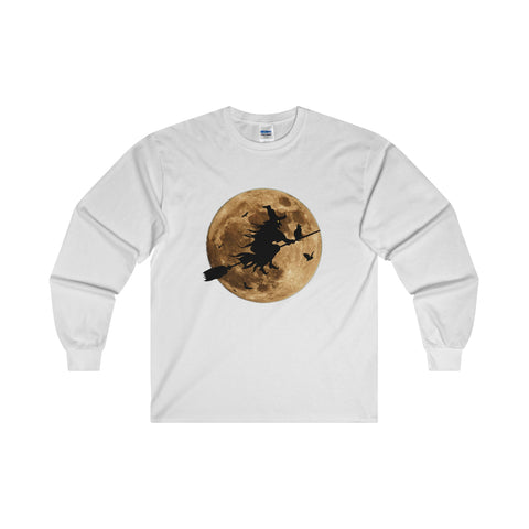 Halloween Moon Witch Ultra Cotton Long Sleeve T-Shirt