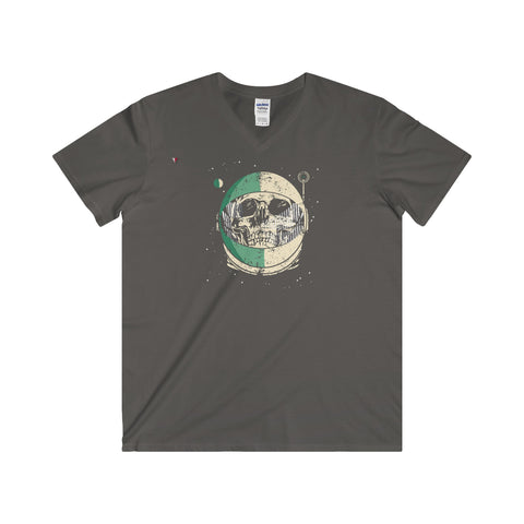 Helmet Skull - Softstyle® Adult V-Neck T-Shirt