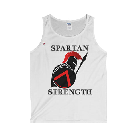 Spartan Strength Black - Adult Tank Top