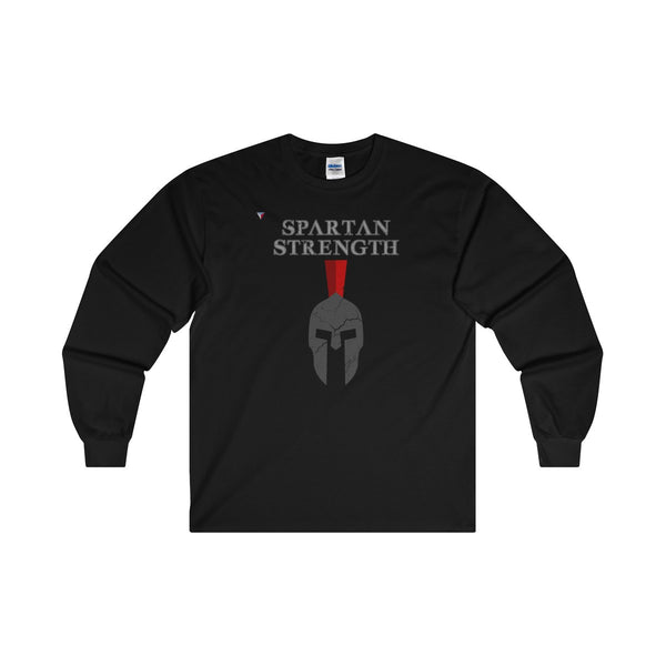 Spartan Strength Grey Gym Ultra Cotton Long Sleeve T-Shirt