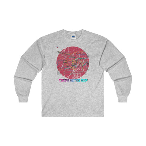 Japanese Metro Map Ultra Cotton Long Sleeve T-Shirt