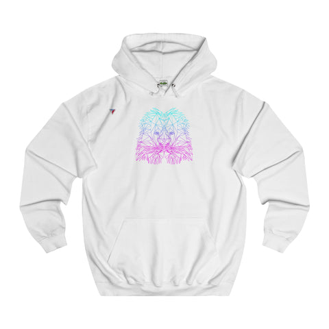 Lion Polygon Neon - College Hoodie