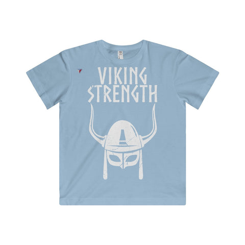 Viking Strength White Gym Youth Fine Jersey Tee