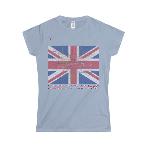 London Tube Map Softstyle Women's T-Shirt