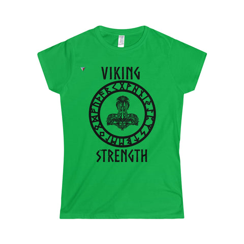 Viking Black Softstyle Women's T-Shirt