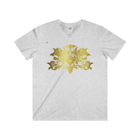 Gold Baroque Softstyle® Adult V-Neck T-Shirt