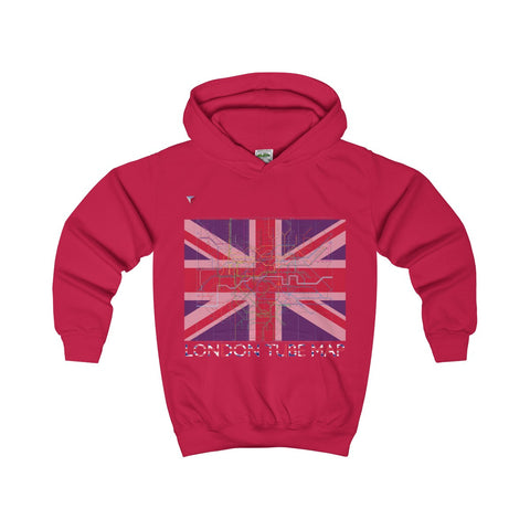 London Tube Map Kids Hoodie