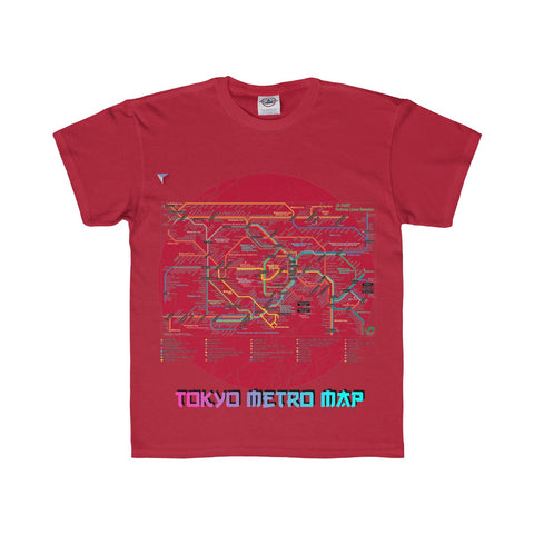 Japanese Metro Map Youth Regular Fit Tee