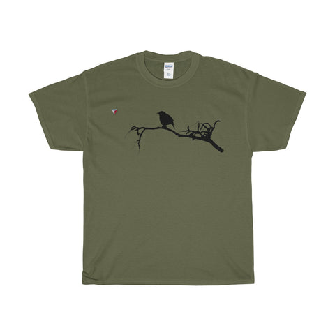Black Bird Heavy Cotton T-Shirt