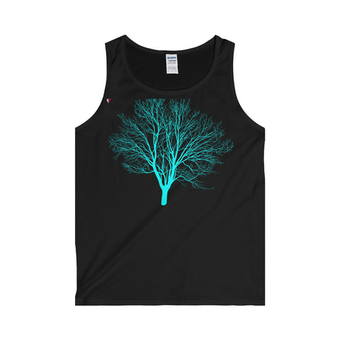 Cyan Tree - Adult Tank Top
