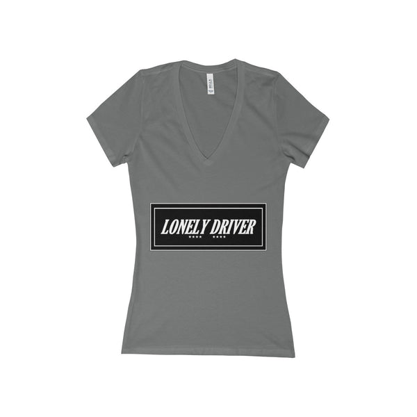 Lonely Driver Women's Deep V-Neck Jersey Tee