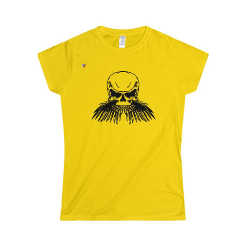 Black Skull Softstyle Women's T-Shirt
