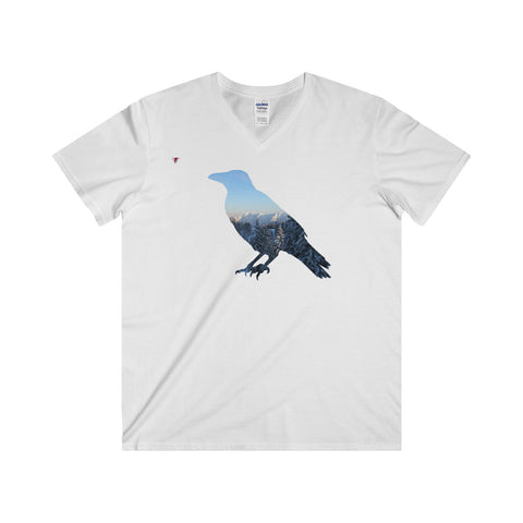 Mountain Raven Softstyle® Adult V-Neck T-Shirt