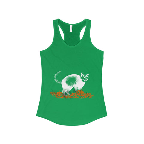 Halloween Pumpkin Cat The Ideal Racerback Tank