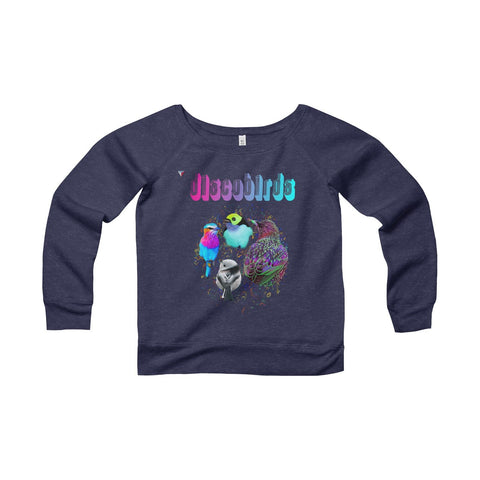 Discobirds Women's Sponge Fleece Wide Neck Sweatshirt