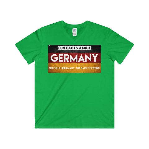 Germany Fun Facts Softstyle® Adult V-Neck T-Shirt