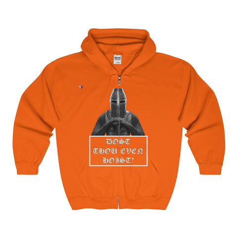 Dost Thou Even Hoist Gym Full Zip Hooded Sweatshirt